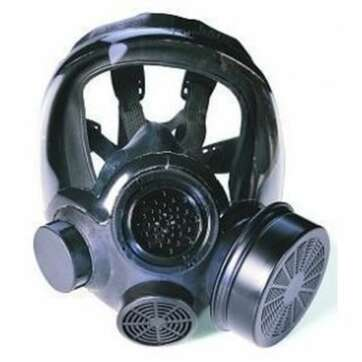 MSA Advantage 1000 Riot Control Gas Mask w Canister